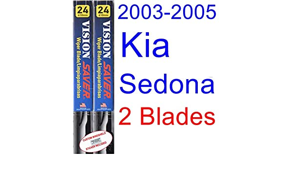 Amazon.com: 2003-2005 Kia Sedona Replacement Wiper Blade Set/Kit (Set of 2 Blades) (Saver Automotive Products-Vision Saver) (2004): Automotive