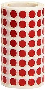 APLI Kids - Rollo de gomets redondos 10,5 mm, color rojo