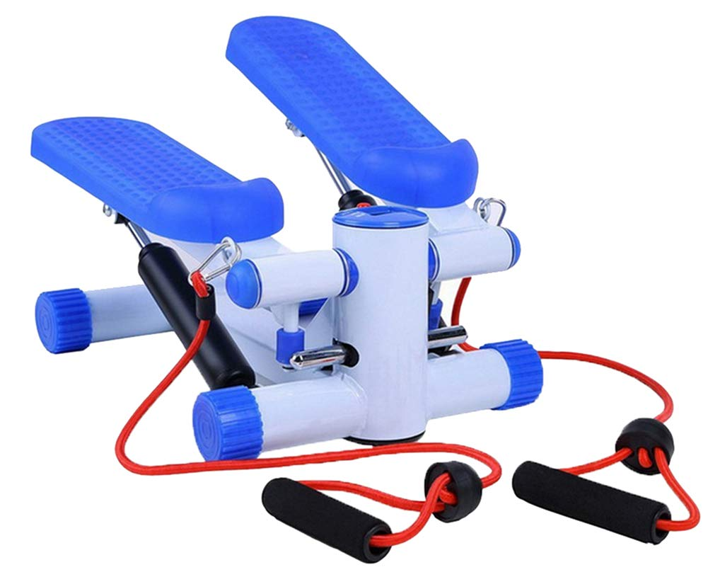 Lcyy-step Mini Stepper mit Widerstandsbanden und LCD Monitor Blau Household für Mann und Frau