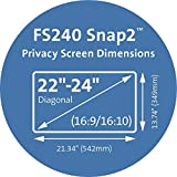 Kensington FS240 Snap2 Privacy Screen for 22-Inch