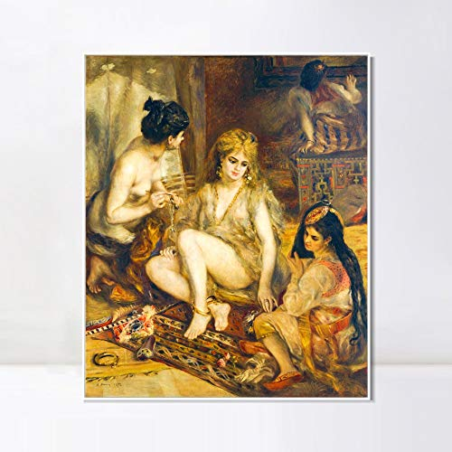 Parisiennes In Algerian Costumes Or Harem - INVIN ART Framed Canvas Giclee Print
