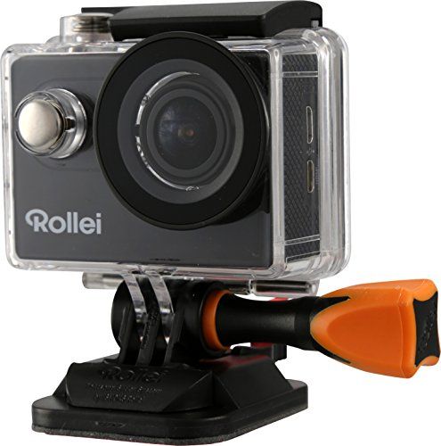 Rollei Actioncam 425 - with 4K Video Resolution, 170° Super Wide Angle Lens, Integrated and Underwater Case - Black by Rollei