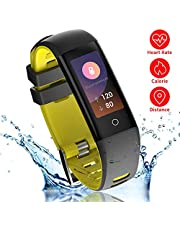 READ Fitness Tracker, G16 Bluetooth Smart Watch with Blood Pressure Monitor, Sports Activity Tracker Bracelet with Heart Monitor IP67 Waterproof Pedometer Calorie for Women Kids Men