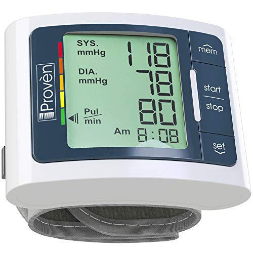 Blood Pressure Monitor Wrist Cuff - Automated BP Machine - Digital Home BP Monitoring Kit - Clinically Accurate & Fast Reading - FDA Approved - BPM-337 by iProven