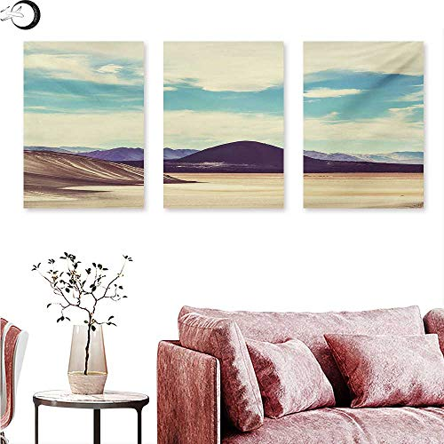 (Mannwarehouse Landscape Living Room Home Office Decorations Photograph Northern Brazilian Plateau Wanderlust Serene in Abandoned Rocks Paint Triptych Art Set Multicolor W 20