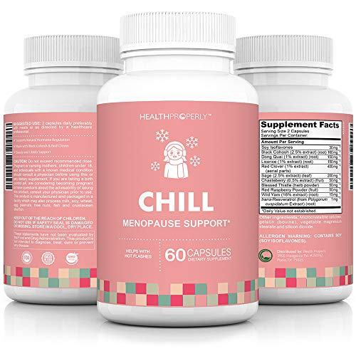 Menopause Vitamins for Hot Flash Relief & Libido Support| Fast Acting All Natural Ingredients | Scientifically Formulated to Help with Hot Flashes, Mood Swings & Weight Gain | Made with Black Cohosh