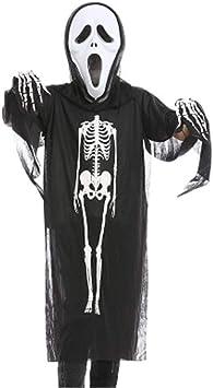 Halloween 3er Kostuem.Kakafashion Halloween Make Up Party Performance Kostume Knochen Print Skelett Kleidung Maske Handschuhe 3er Pack Schwarz Serie Amazon De Haustier