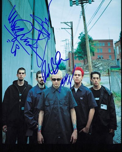 Linkin Park Autographed Preprint Signed 11x14 Poster Photo
