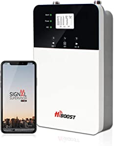 HiBoost Cell Phone Signal Booster for Home and Office, Up to 6,000-12,000 Sq.Ft, Compatible All US Carriers- Verizon, AT&T, Sprint, T-Mobile on All Cellular Devices (10K Plus PRO)