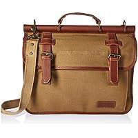 Tommy Hilfiger Workhorse Dowel Flap-Over Messenger Bag (Khaki)