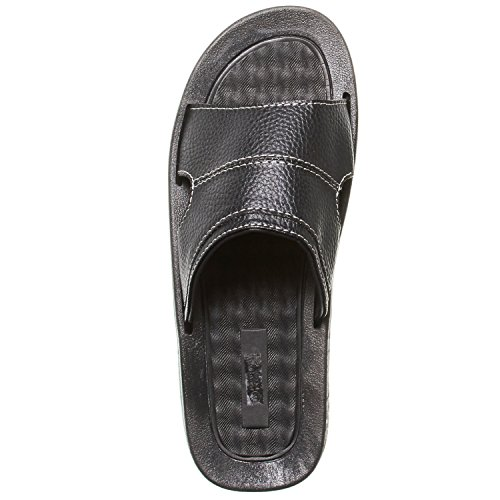 Sizes See More Sandals Mens Slides Colors Faux Band Rugged Leather Black One Skysole P08qzwq