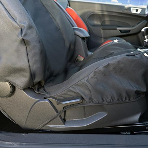 UK Custom Covers SC143B Tailored Heavy Duty Waterproof Front Seat Cover Black