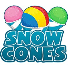 """SNOW CONES 8"""" Concession Decal sign cart trailer stand sticker equipment"""