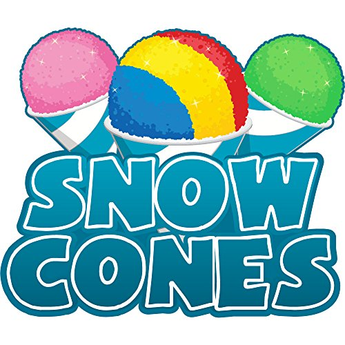 "SNOW CONES 12"" Concession Decal sign cart trailer stand sticker equipment"