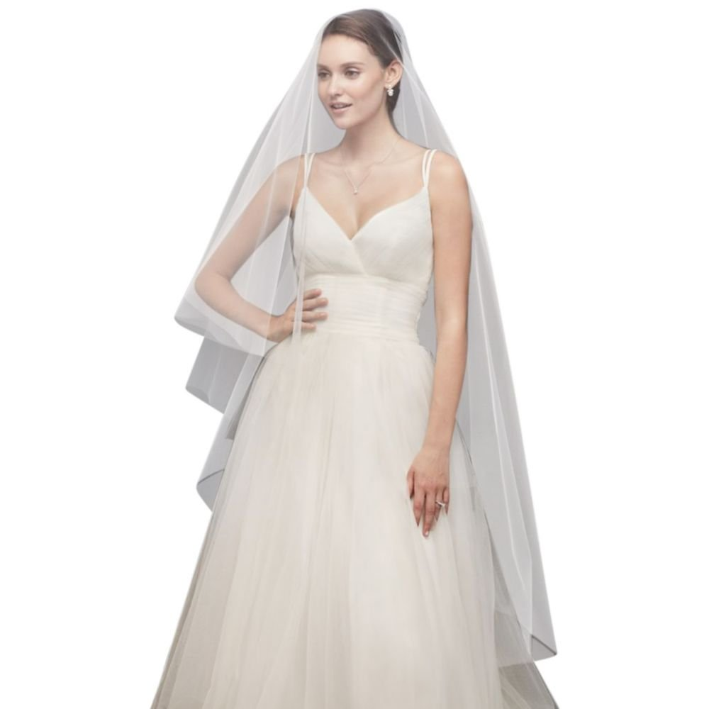 Two-Tier Circle-Cut Walking Veil Style 399, Ivory