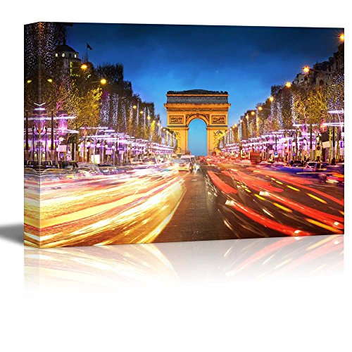 Arc De Triomphe Paris City at Sunset Arch of Triumph and Champs Elysees