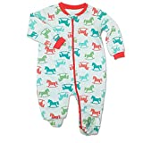 GORBAST Baby Cotton Footed Little Boy Jumpsuits Sleeper Toddler Pajamas Infant Outfits (0-3Months, 04)