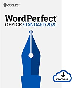 Corel WordPerfect Office 2020 Standard Upgrade | Word Processor, Spreadsheets, Presentations | Newsletters, Labels, Envelopes, Reports, Fillable PDF Forms, eBooks [PC Download]