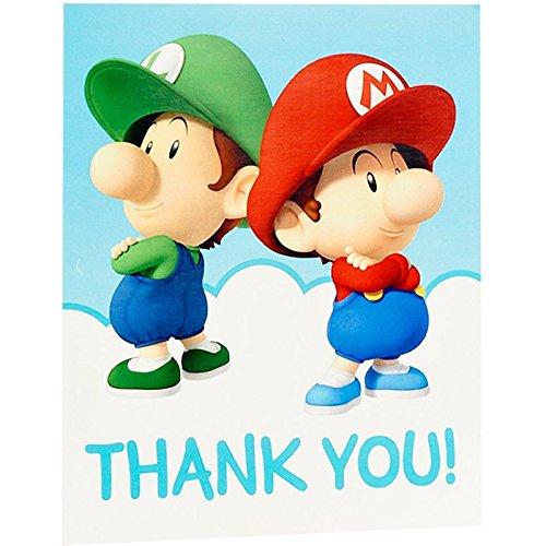 BirthdayExpress Super Mario Bros Babies Party Supplies Thank-You Notes -