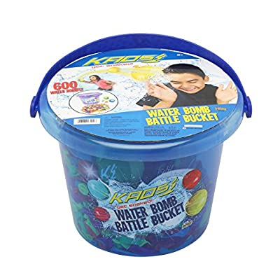 KAOS Ultimate Water Balloon Battle Bucket: Toys & Games