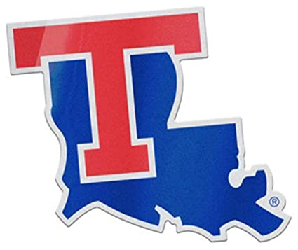 Amazon.com: Louisiana Tech – Adhesivo para insignia de ...