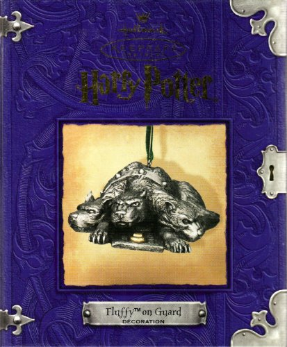 New Harry Potter Fluffy on Guard Pewter Ornament Warner Bros. Collectible Hallmark Keepsake