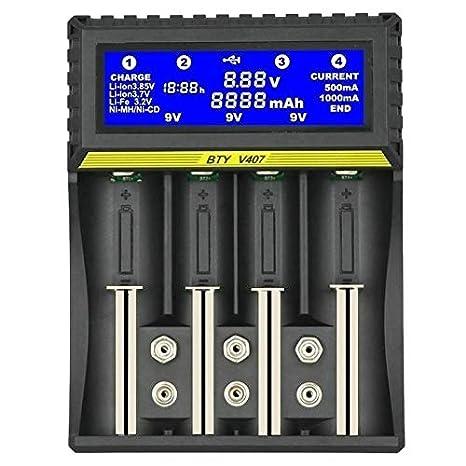 Tiamu Bty-V407 Cargador de Batería Li-Ion Li-Fe Ni-Mh Ni-CD ...