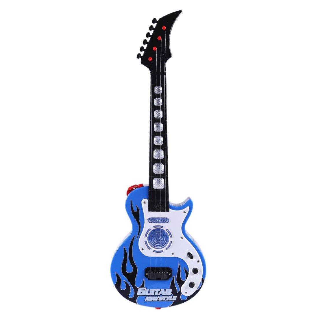 WEIZQ Mini 4 Cuerdas Guitarra Infantil Juguete para los Pequeños Músicos - ¡para Crear tu Propia Música - 53cm: Amazon.es: Juguetes y juegos