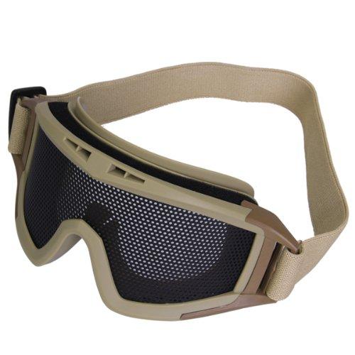 Generic Malla met/álica cqb tactical airsoft gafas gafas caqui