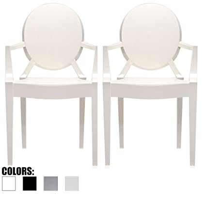 Acrylic Outdoor Furniture Minimalist 2xhome Set Of White Modern Glam Ghost Chairs Chair Arms Molded Acrylic Plastic Mirrored Furniture Better Homes And Gardens Amazoncom 2xhome Set Of White Modern Glam Ghost Chairs Chair