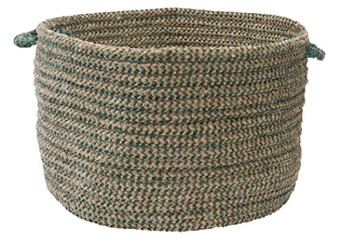 - Colonial Mills Softex Check Utility Basket, 18 by 12-Inch, Myrtle Green