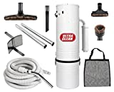 central vacuum ultra clean unit 7500 sq ft with 30 hose cleaning attachment set