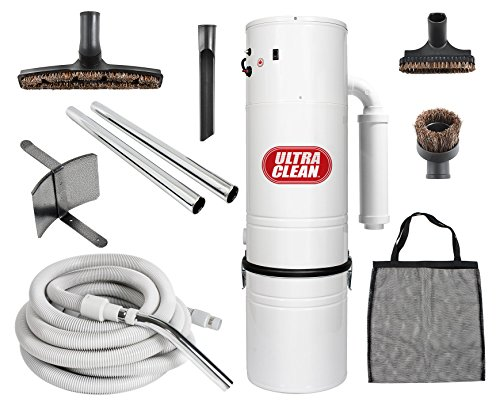 Central Vacuum Ultra Clean Unit 7,500 sq. ft. with 30′ Hose Cleaning Attachment Set