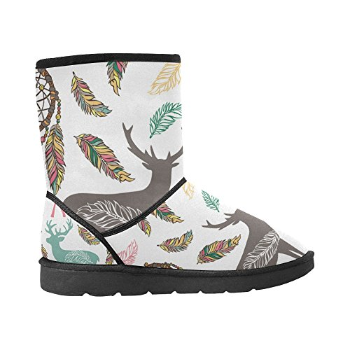 Graphic Ethnic Tribal 12 Doodle Boots Size Snow InterestPrint 5 Color2 Pattern Abstract colorful 5 Ladies Designs Womens Classic dnavv8qz