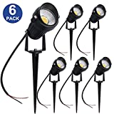 Cheap YGS-Tech 5W LED Landscape Lights 12V Low Voltage Waterproof Warm White Spotlights for Garden, Yard, Lawn, Pathway (6 Pack)