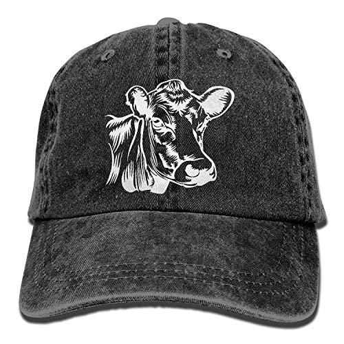 Cow Clip Art-1 Unisex Baseball Cap Cotton Denim Adjustable S