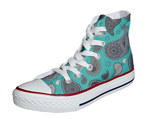 Artisanal Star Paisley Hi Adulte produit Converse Mixte All Chaussures Turquoise Coutume wq5nxTa8C