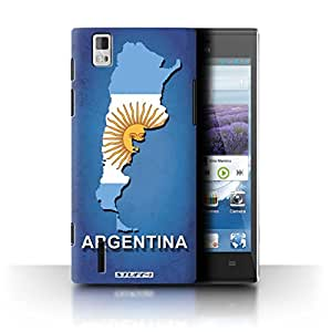 STUFF4 Phone Case / Cover for Huawei Ascend P2 / Argentina/Argentinean Design / Flag Nations Collection