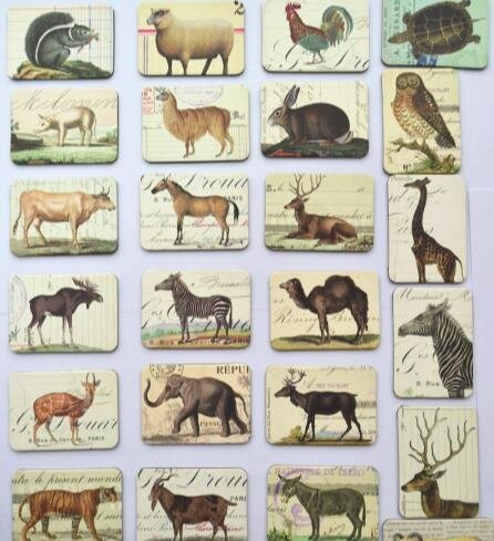 MISWEE 24-pcs magnetic fridge magnets refrigerator sticker home decoration accessories magnet paste arts crafts (animal)