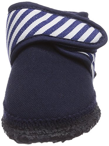Nanga Vasco - pantuflas de lana infantil azul - Blau (Dunkelblau 32)