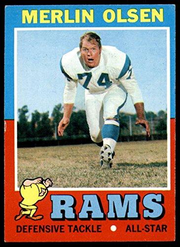- 1971 Topps #125 Merlin Olsen Excellent+ LA Rams