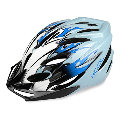 HiCool Adult Cycling Helmet, Lightweight Bike Helmet Bicycle Helmet Outdoor Sports Helmet with Removable Visor and Adjustable Design for Men Women Safety Protection