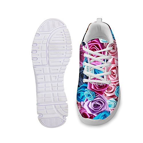 Walking DESIGNS Vintage Running Shoes Floral FOR Sneaker Purple Women's Fashion U D Print Rose Comfortable 4Tw1n15pvq
