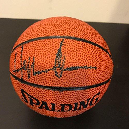 Hakeem Olajuwon Autographed Basketball - Spalding Mini COA - PSA/DNA Certified - Autographed Basketballs (Spalding Basketball Mini Autographed)