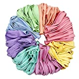 Assorted Colored Pastel Latex Balloons for Parties 10 inch 100 pcs + Balloon Ties for Sealing 100 pcs, for Kids Birthday Wedding Baby Shower Party Decorations