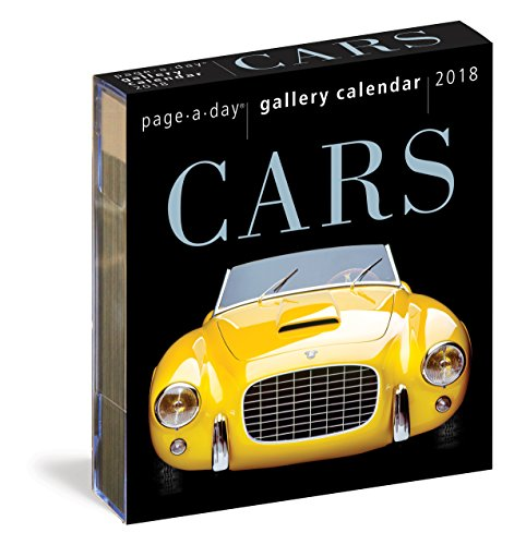 Cars Page-A-Day Gallery Calendar 2018 cover