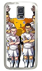 galaxy s5 case,custom samsung galaxy s5 case,TPU Material,Drop Protection,Shock Absorbent,Transparent case,cute cartoon patternCartoon England football team