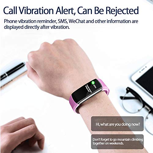 PYBBO Temperature Measurement Smart Watch, Activity Fitness Trackers Exercise Fitness with Heart Rate Blood Pressure and Sleep Monitor, Calorie Counter, Step Counter, Compatible Android/iOS, Blue