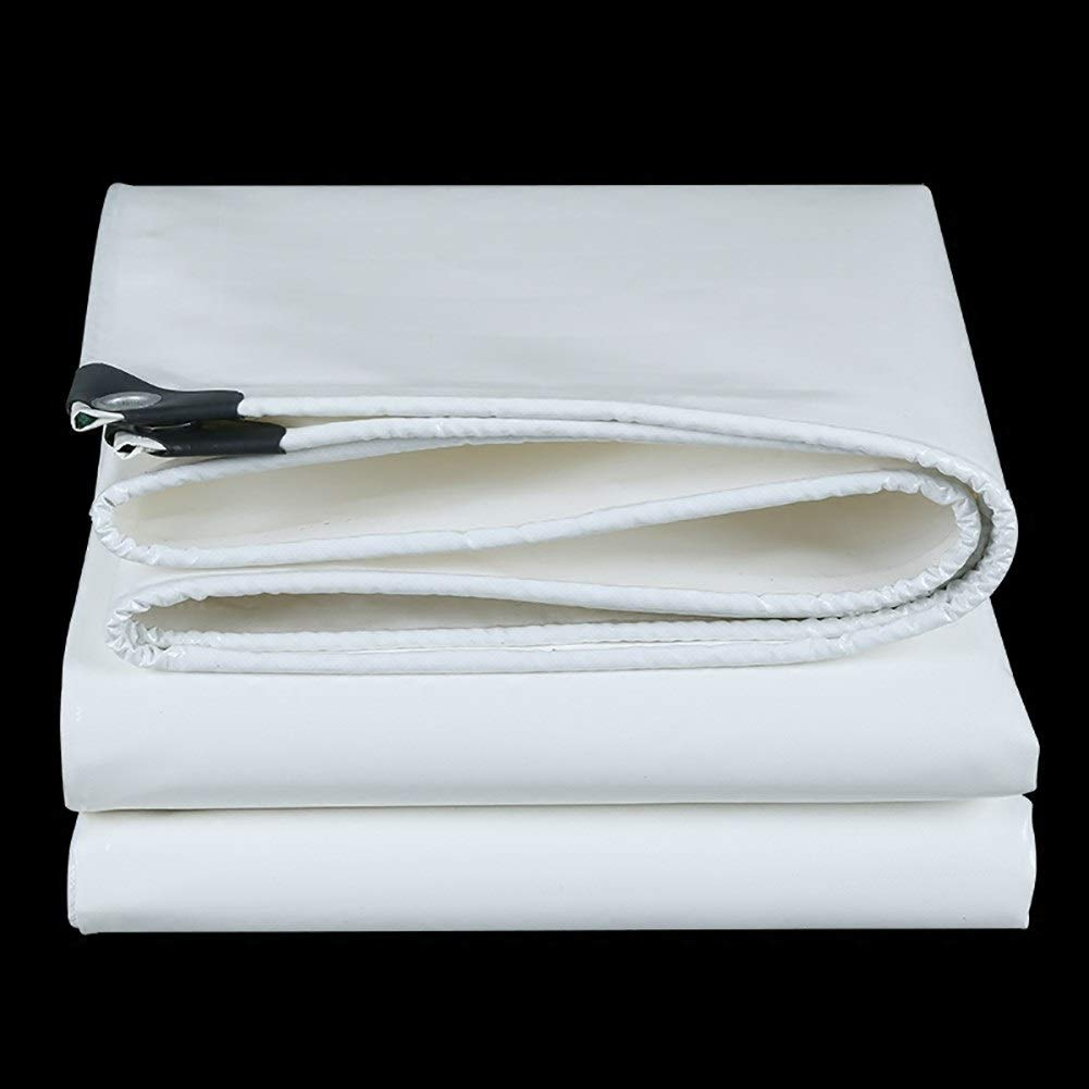 KTYXGKL 厚い白いpvcナイフ掻き布重い防水シート日焼け止め防塵ネット テントの防水シート (サイズ さいず : 5x10m) 5x10m  B07R3GN7MN