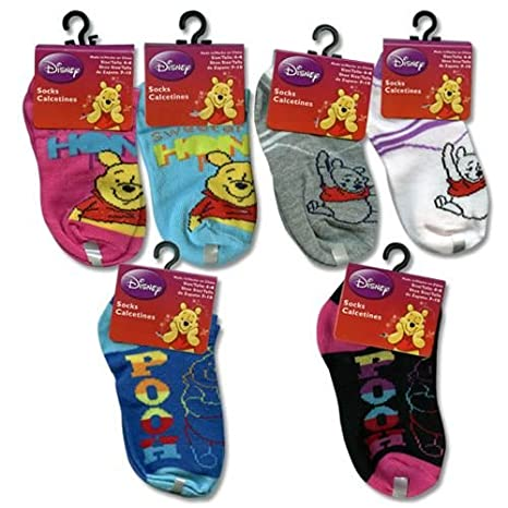 Amazon.com: Disney Winnie the Pooh Ankle Socks 3 Pairs (Size 4-6): Toys & Games